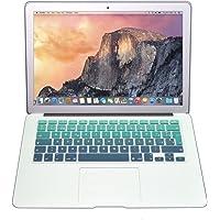 Protector Skin de Teclado para Macbook en Español compatible con: Macbook/Pro 13''/Pro 15''/Pro Retina 13''/Pro Retina 15''/Air 13'', Models: A1278/A1286/A1502/A1425/A1398/A1369/A1466 VERDE DEGRADADO