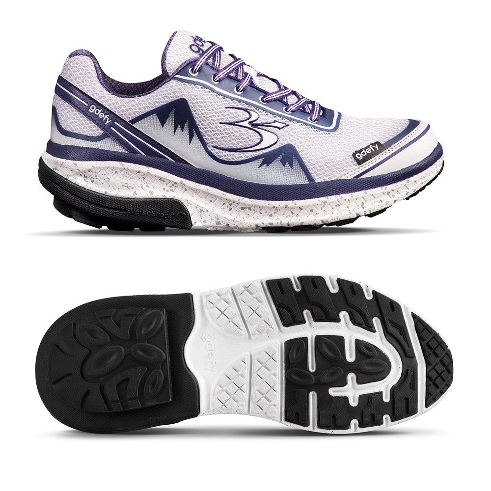 Gravity Defyer Proven Pain Walk Relief Women's G-Defy Mighty Walk Pain - Best Shoes for Heel Pain, Foot Pain, Plantar Fasciitis B079ZQ4S29 8 M US|White, Purple 8e5090