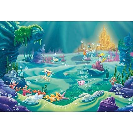 Fondo VV 7 x 5 pies bajo el Mar Little Sirena Fotografía ...