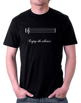 Camiseta Negra - -Enjoy The Silence - S M L XL XXL camiseta by tshirteria negro Small: Amazon.es: Ropa y accesorios