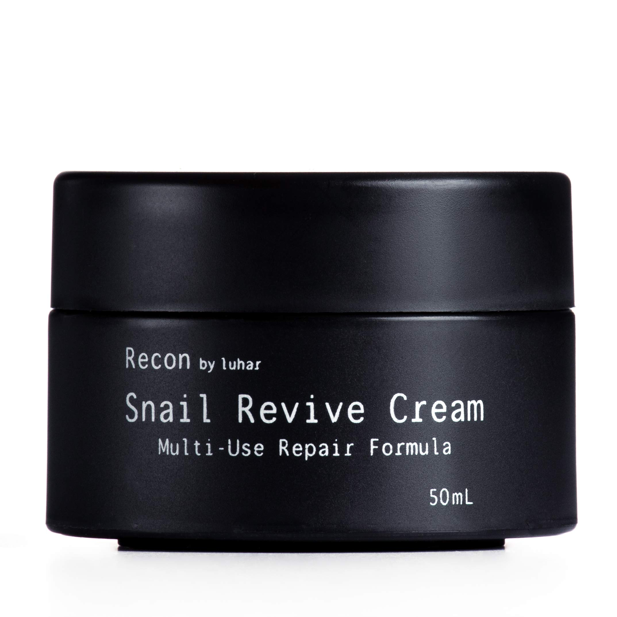 Recon by Luhar Snail Repair Cream All-In-One Facial Moisturizer – Anti-Wrinkle & Healing Face Cream, 50 mL