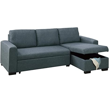 Tremendous Amazon Com Benzara Bm171480 Wooden Sectional Sofa Grey Machost Co Dining Chair Design Ideas Machostcouk