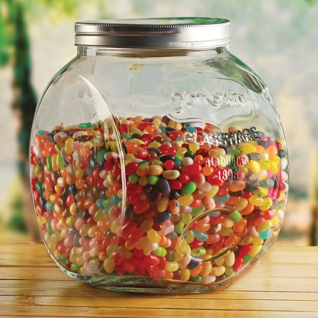 Circleware Yorkshire Mason Glass Cookie Food Preserving Canister Jar with Metal Lid, 1.5 Gallon 67094