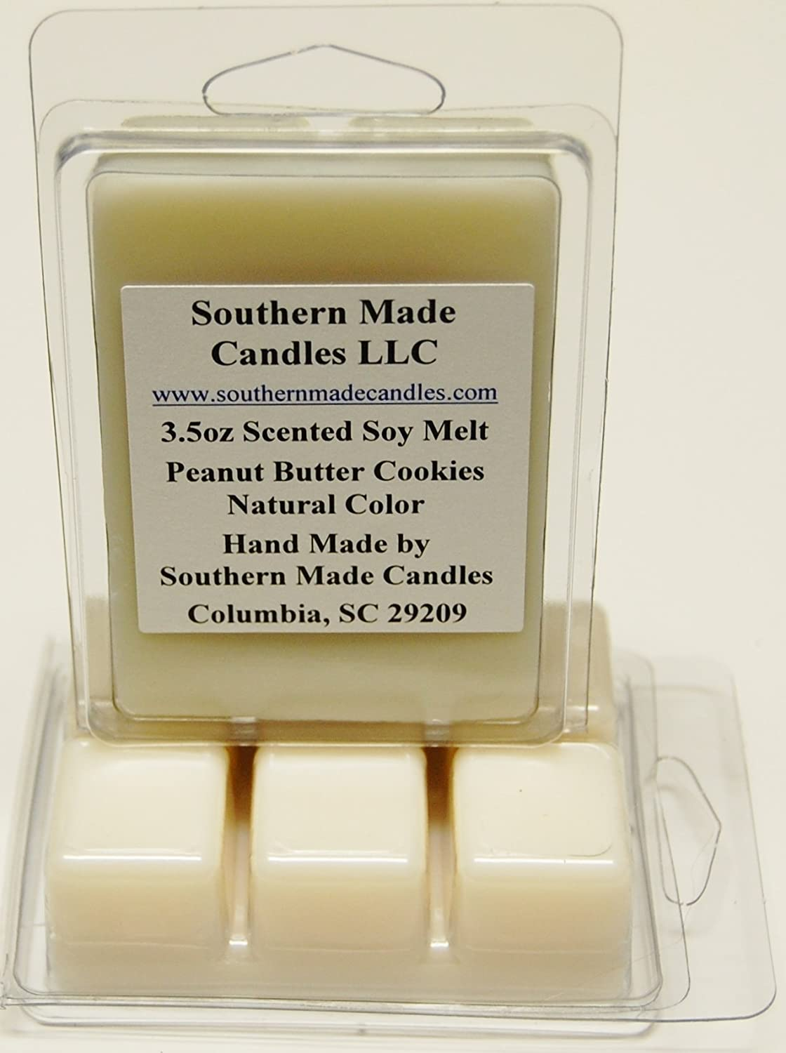 3.5 oz Scented Soy Wax Candle Melts Tarts - Peanut Butter Cookies