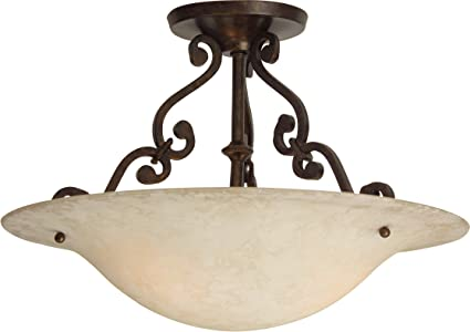 Amazon.com: Craftmade x1813-ag Toscana 2 Light Semi Flush ...