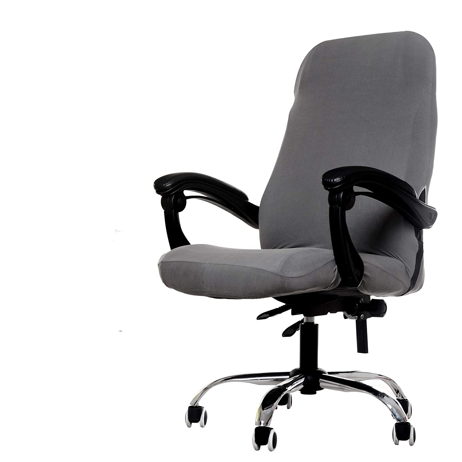 Deisy Dee Computer Office Chair Covers for Stretch Rotating Mid Back Chair Slipcovers Cover ONLY Chair Covers C162 (Grey)