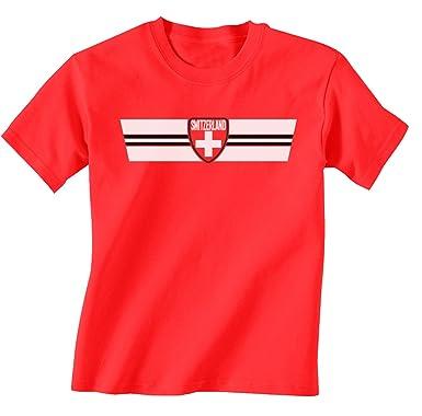 7330ed3f847 Buzz Shirts Switzerland World Cup 2018 Retro Strip T-Shirt  Choice of Mens  Ladies Kids Baby Grow   Amazon.co.uk  Clothing