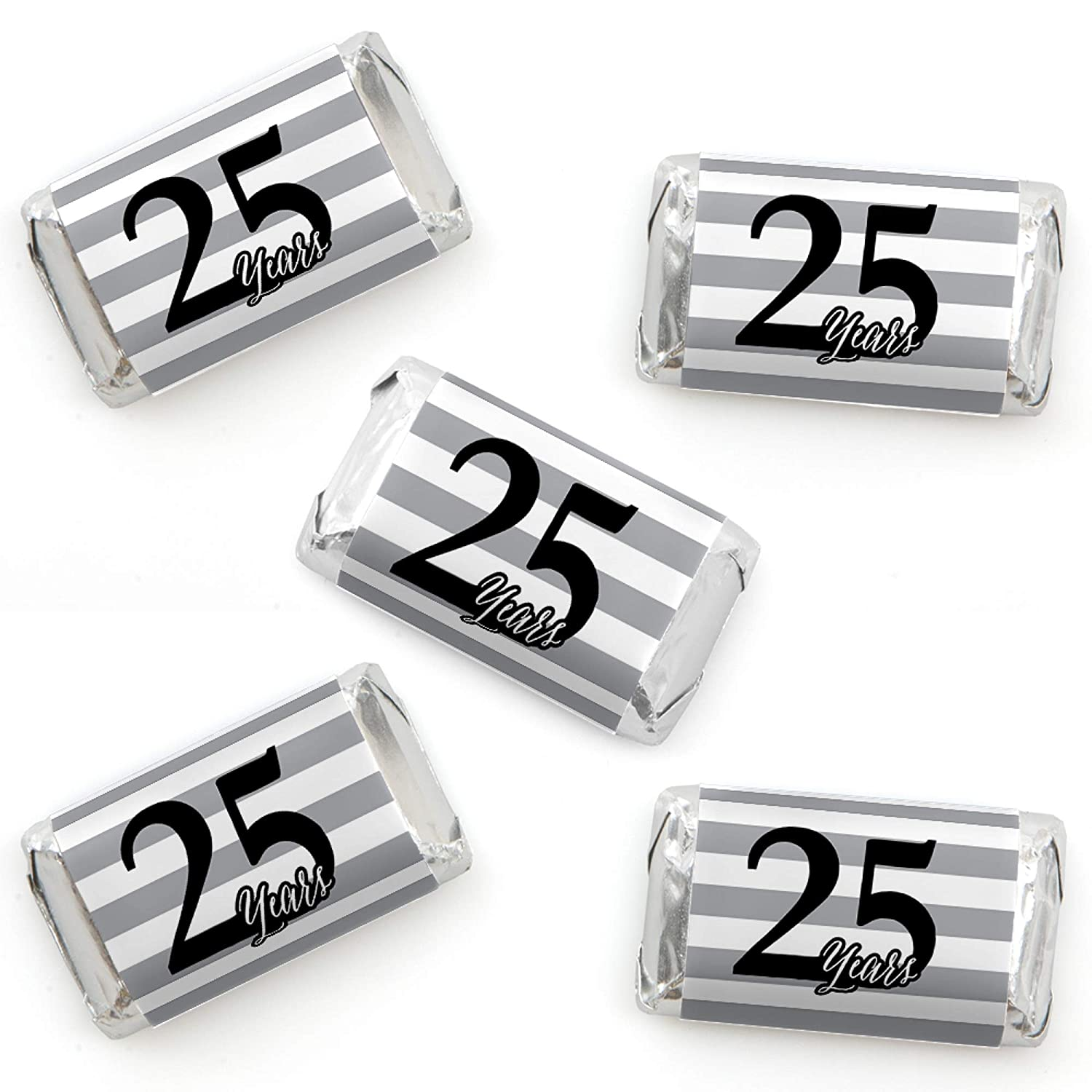 Mini Candy Bar Wrapper Stickers Anniversary Party Small Favors 25th Wedding Anniversary We Still Do 40 Count