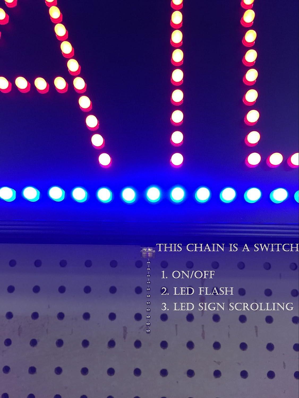 Amazon.com: Controlable abierto de neón LED uñas cartel (31 ...