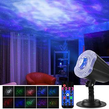 Qomolo Projektor Lampe Kinder Ozean Projektor f/ür Kinder Schlafzimmer Wohnzimmer Party 2 in 1 Ozean Sternenhimmel LED Projektor Nachtlicht Projektor Stimmungslichter Romantische Nachtlampe Projektor