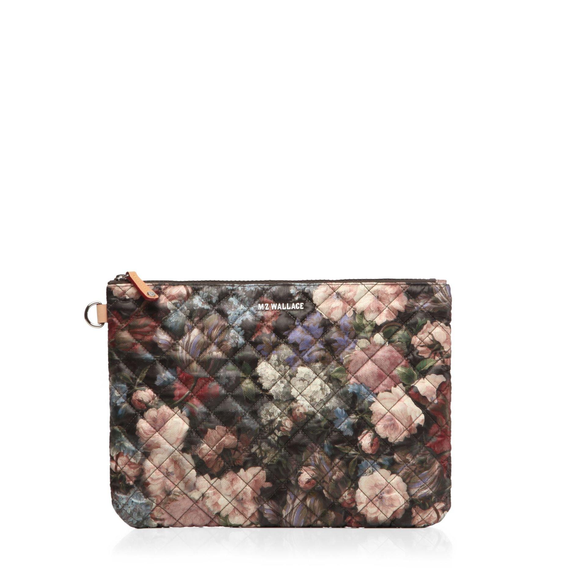mz wallace night garden clutch floral print bag new