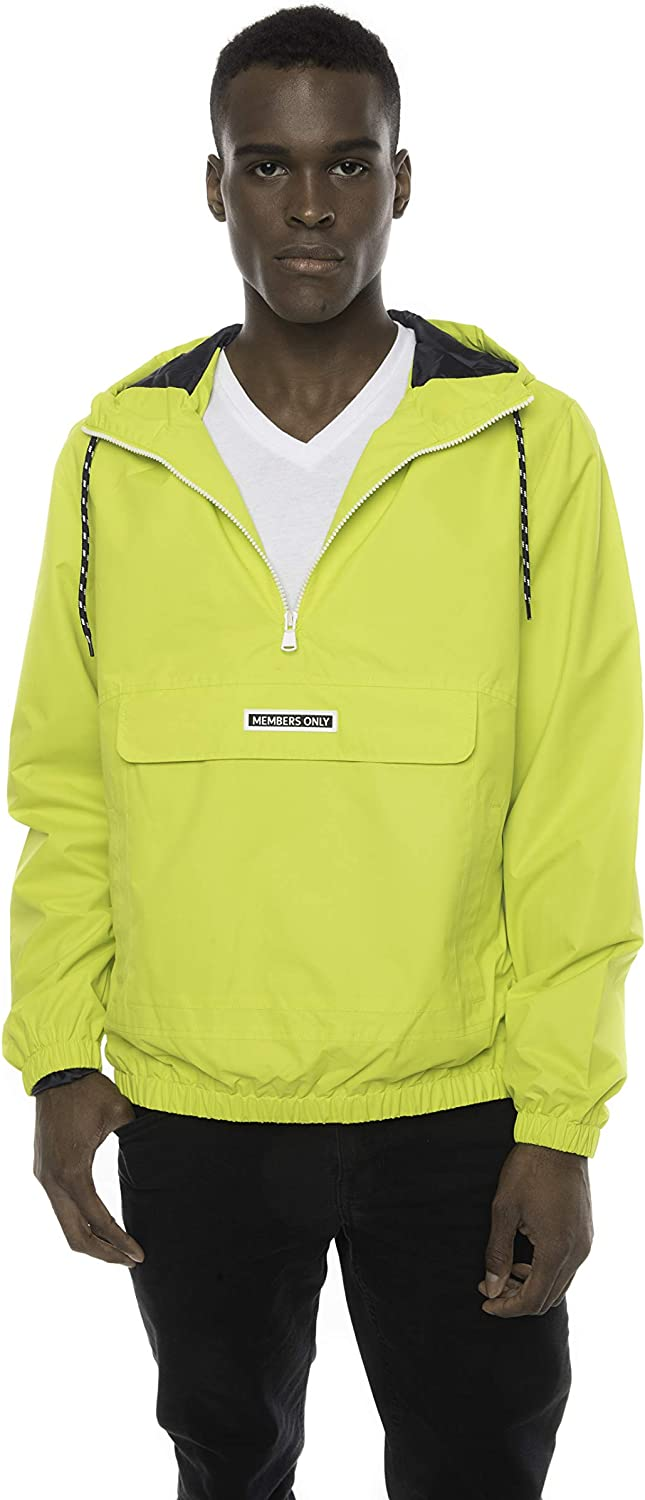80s Windbreakers, Jackets, Coats Members Only Mens Solid Pullover Half Zip Windbreaker Jacket $99.00 AT vintagedancer.com