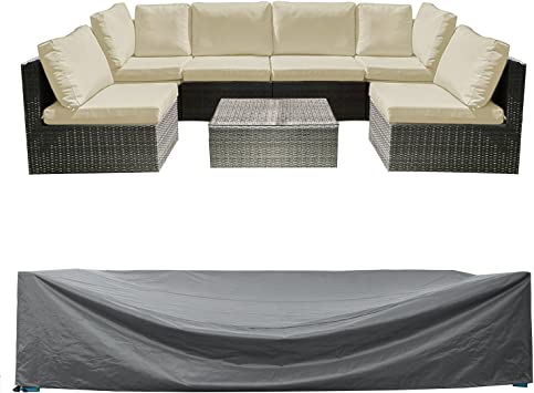 "83/"" Heavy Duty Garden Rattan Outdoor Furniture Table Chair Cover Patio Protector"