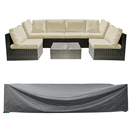 Captivating Patio Sectional Sofa Set Cover Outdoor Furniture Covers Water Resistant Outdoor  Table And Chair Covers Durable