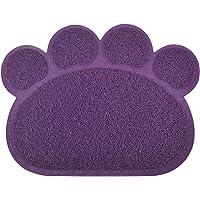 Paw-shaped Tapis de bac à litière pour chat, 12couleurs disponibles, 40x 29,8cm