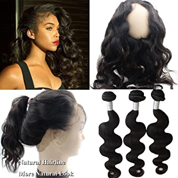 Cambodian Body Wave Hair 3 Bundles With Frontal Cheap Human Hair Cambodian Human Hair Weave With Lace Frontal Closure Free Part Novel In Design;