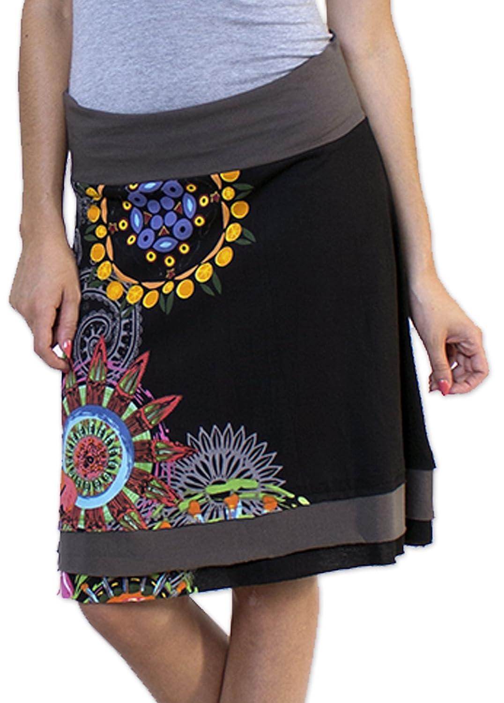 Coton du Monde - falda Britany 2 multicolor 40 : Amazon.es: Ropa y ...