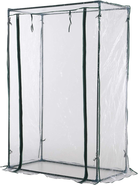 Outsunny Invernadero Pequeño 100x50x150cm Armario Cultivo Flores Tomates PVC 1 Puerta Enrollable: Amazon.es: Jardín
