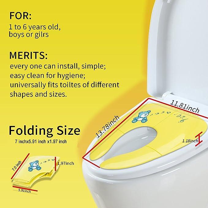 Jaetech House Adaptador WC Niños Plegable Asiento Inodoro Portátil Bebés Tapa WC para Casa y Viaje: Amazon.es: Hogar