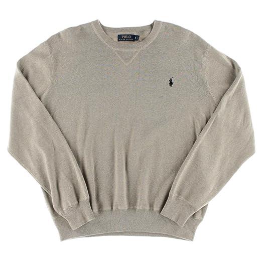 Polo Ralph Lauren Mens Heathered Sweatshirt Pullover Sweater Tan XS ... 2bc7147e8917