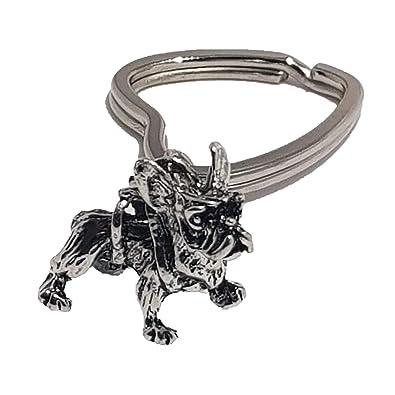 Llavero pequeño grabado en 3D con forma de bulldog francés ...