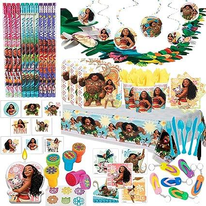 24 Disney Moana Special Guest Stickers Favors Kids Hawaiian Luau Birthday Party