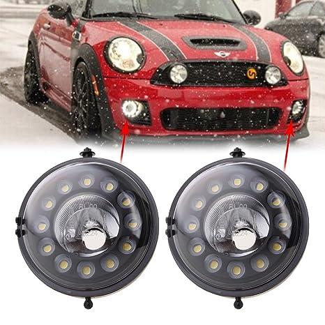 mingli negro LED luz diurna DRL luces antiniebla para Mini Cooper R55 R56 R57 R58 R60
