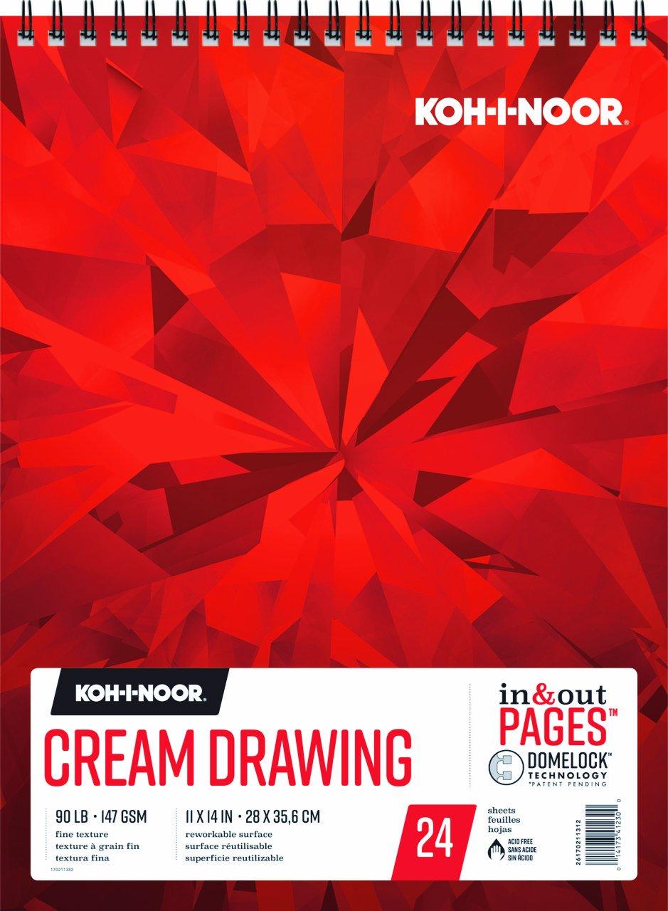 Koh-I-Noor Cream Drawing Pad 11X14 24 Sheets
