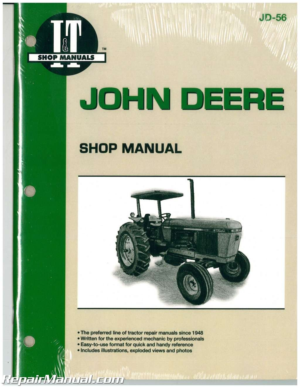 jd 56 john deere 2840 2940 2950 tractor workshop manual rh amazon com