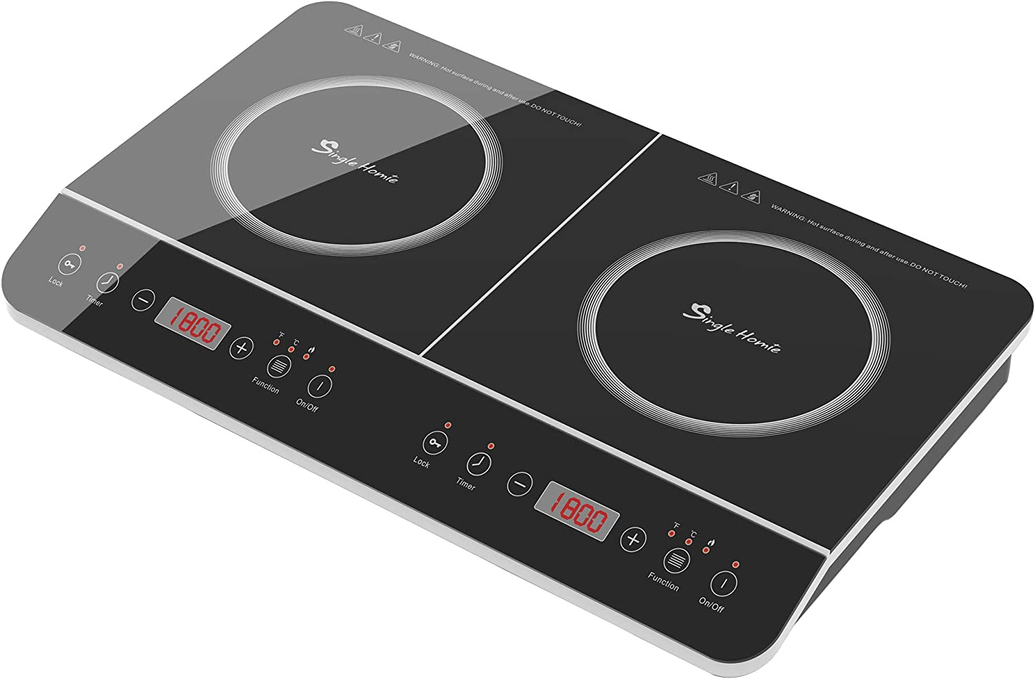 "24"" SINGLEHOMIE Portable Induction Cooktop Cooker Countertop Burner Touch Sensor LED Display Plug-in 110-120V / 1800W"