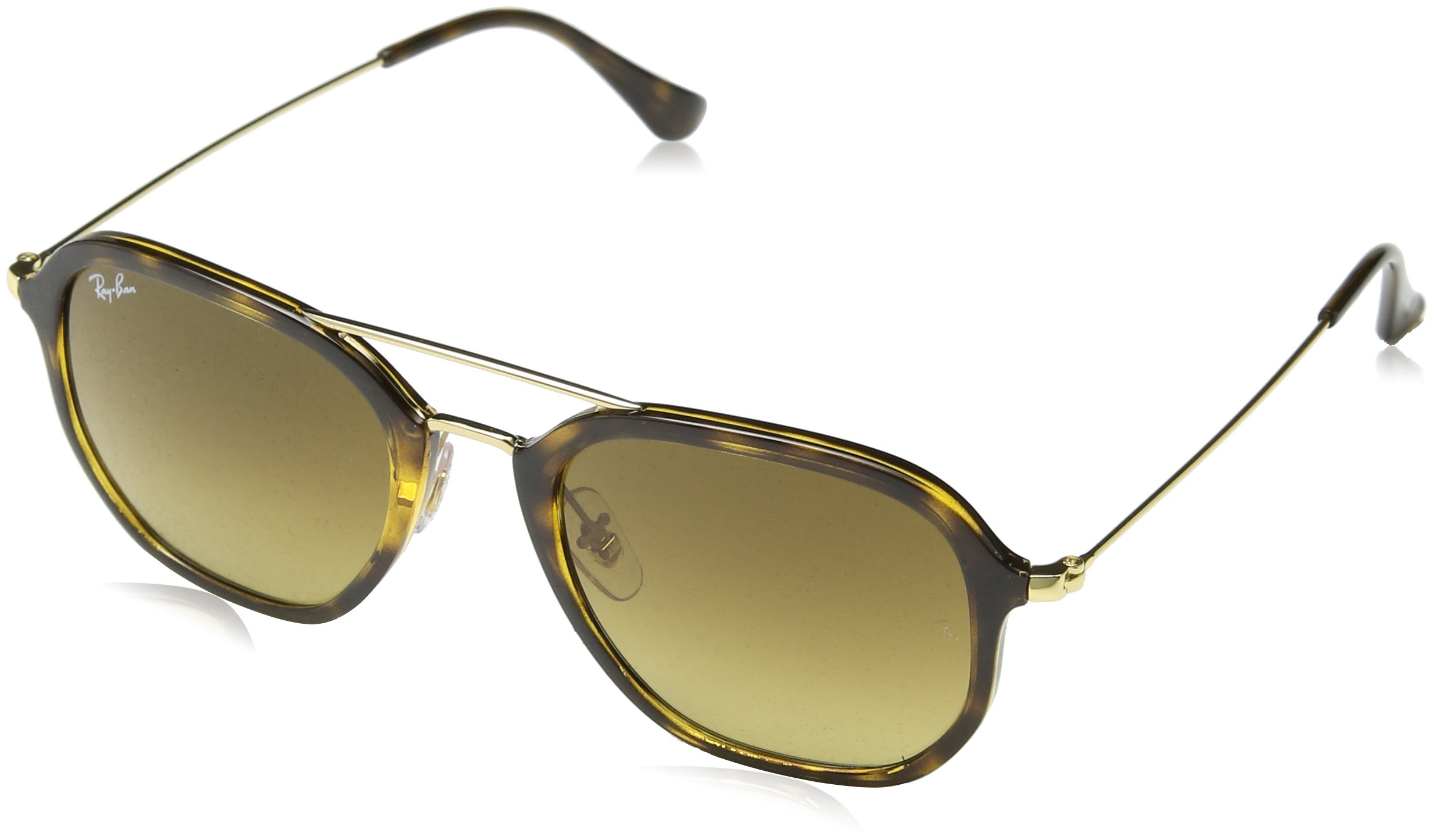 Ray-Ban Women's Highstreet Aviator Sunglasses, Shiny Havana/Brown, One Size by Ray-Ban