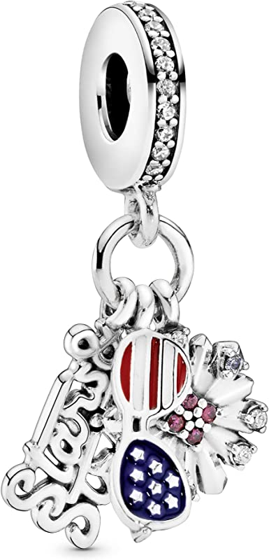 Pandora Jewelry American Icons Dangle Crystal and Cubic Zirconia Charm in  Sterling Silver