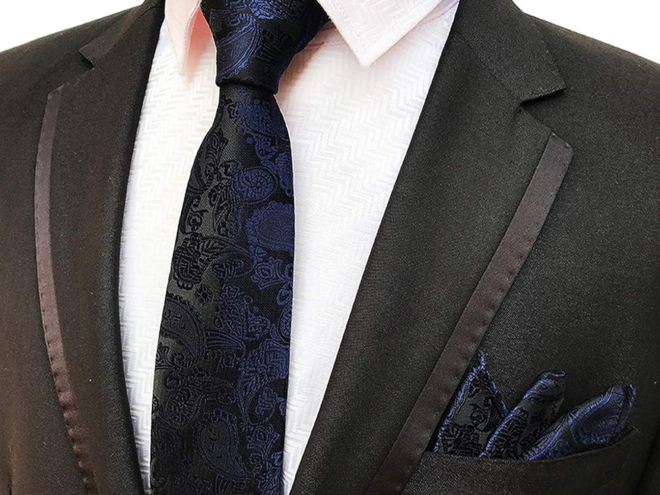 Amazon.com: mendeng corbata para hombre, color azul marino ...