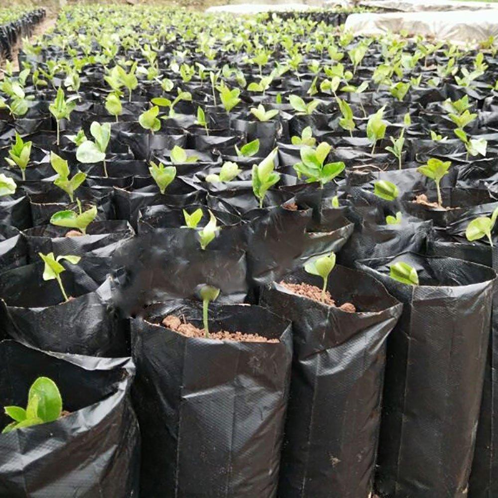 Mr. Garden Plastic Nursery Bag For Soil, Coco Coir, Grodan, W7.9''xL13.8'' black (25pcs)