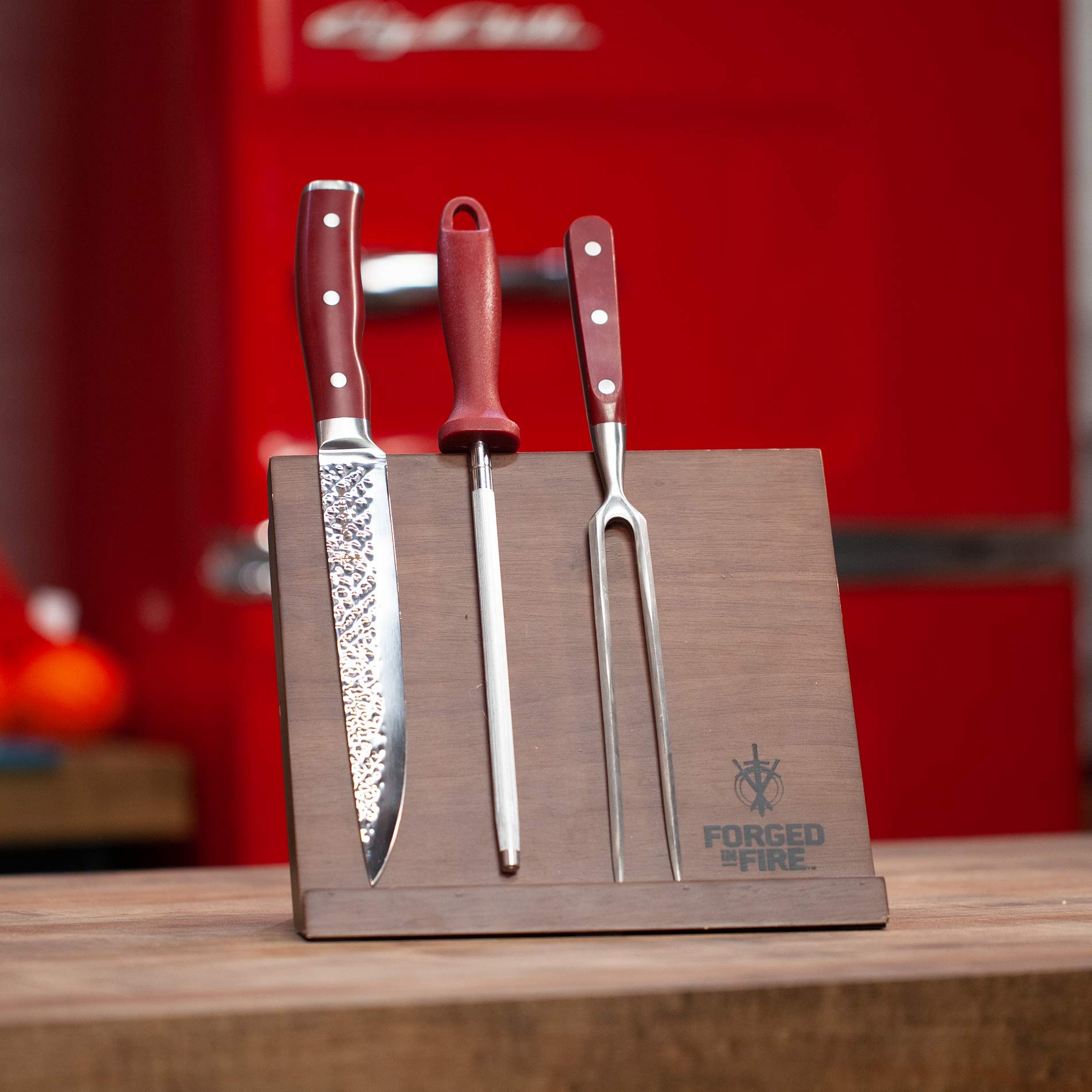 HISTORY - Forged in Fire - Magnetic Knife Block - Natural Wood, Space Saver by Forged in Fire (Image #5)