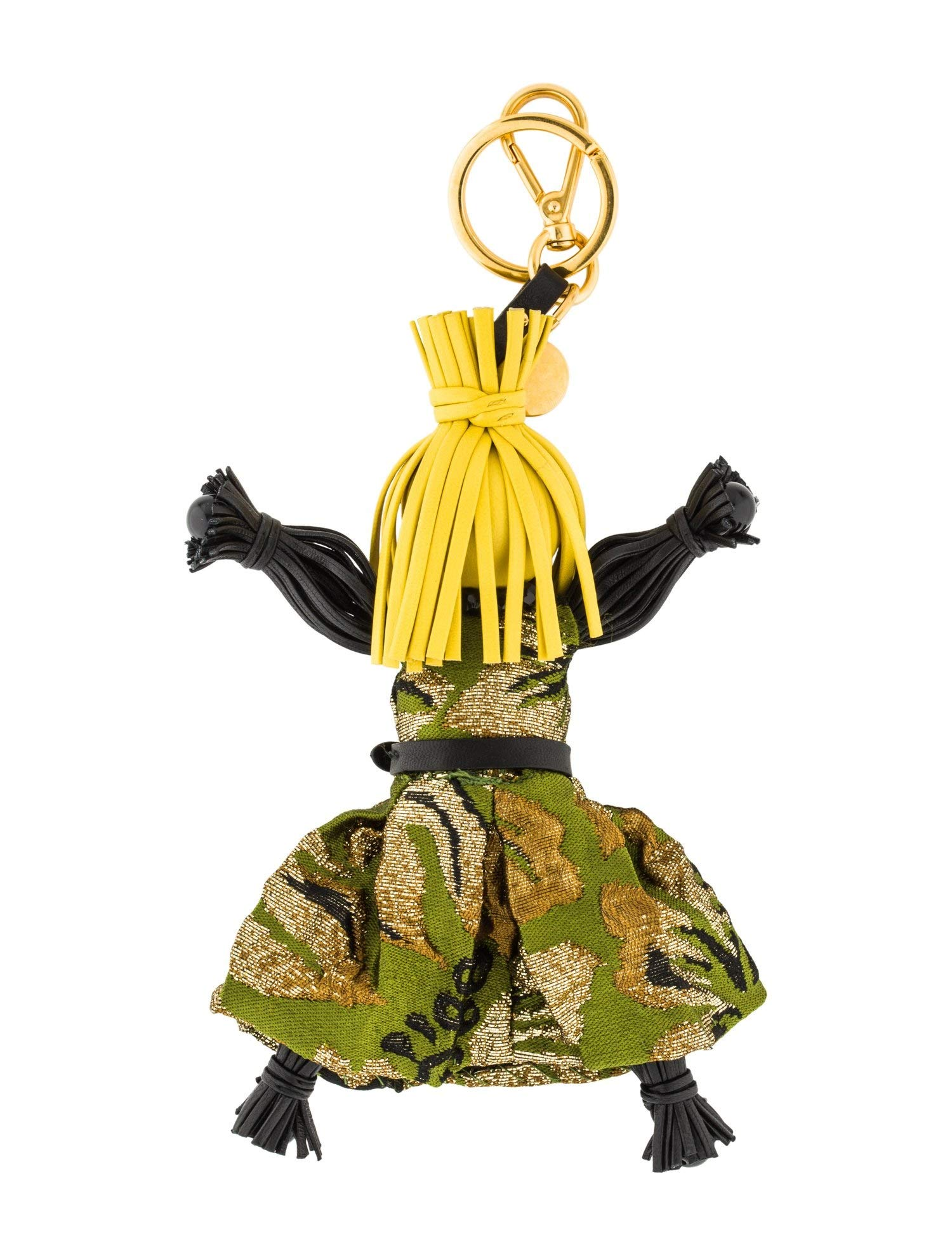 Prada Trick Pelle Felce Green Dress Jasmine Doll Keyring 1TL171 by Prada (Image #5)
