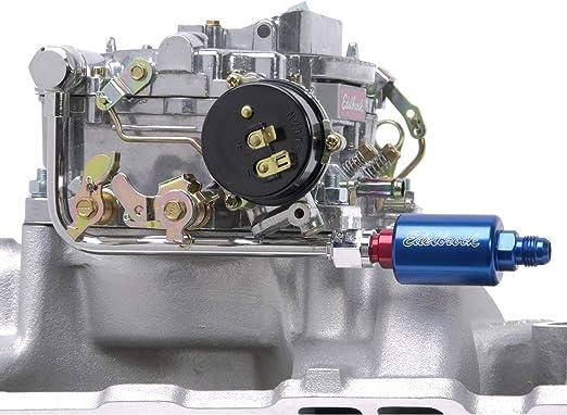 Edelbrock 8134 Fuel Line Kit Chromed Steel /& Filter