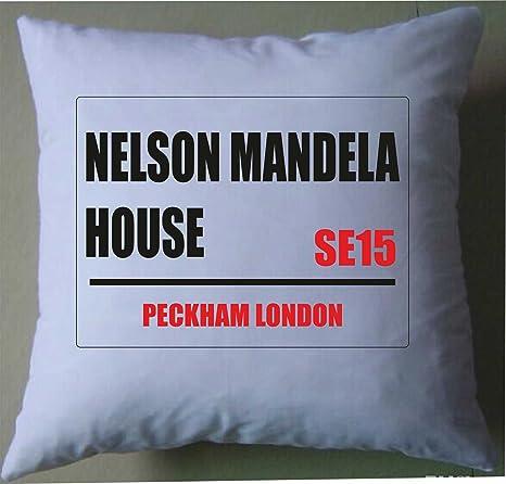 Nelson Mandela House - Funda de cojín con diseño de letrero ...