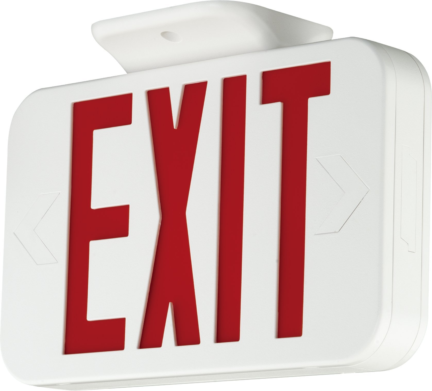 Lit-Path Double Face LED Combo Emergency EXIT Sign and Back up Batteries- US Standard Red Letter Emergency Exit Lighting, UL 924 and CEC Qualified, 120-277 Voltage