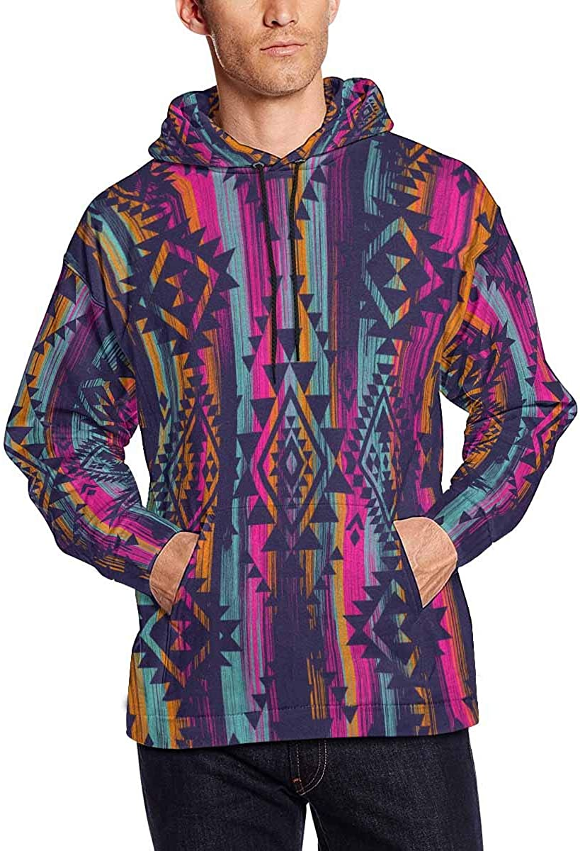 INTERESTPRINT Mens Hooded Pullover Sweatshirt