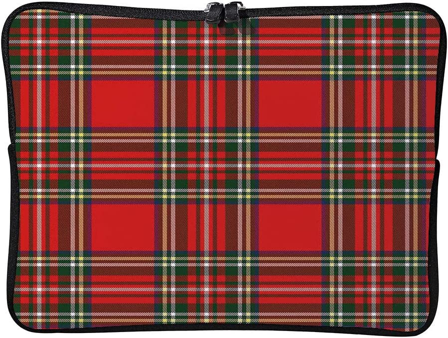 C COABALLA Plaid European Western Culture Inspired Laptop Sleeve Case Water-Resistant Protective Cover Portable Computer Carrying Bag Pouch for Laptop AM026575 15 inch//15.6 inch