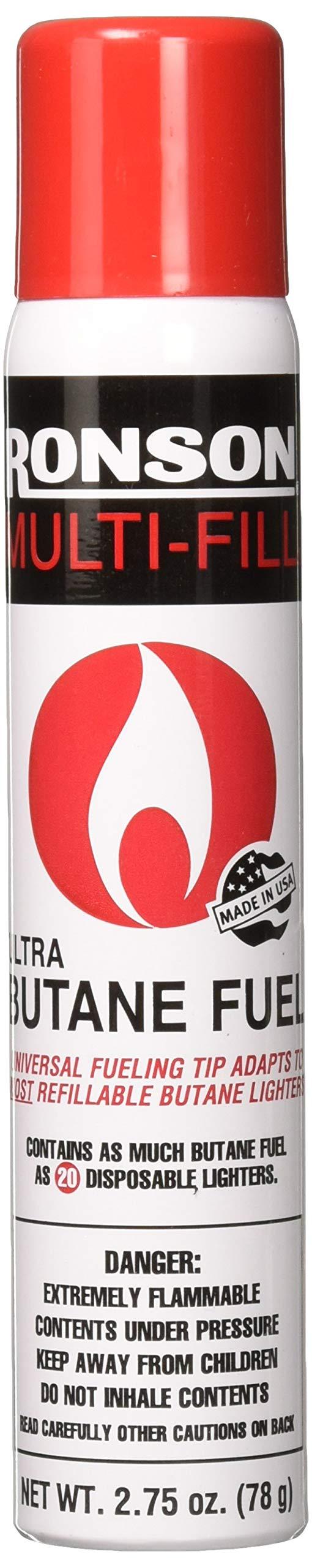 Ronson 99146 2 Large Lighter Butane Refill 78 Grams 2.75 oz(Pack of 2)