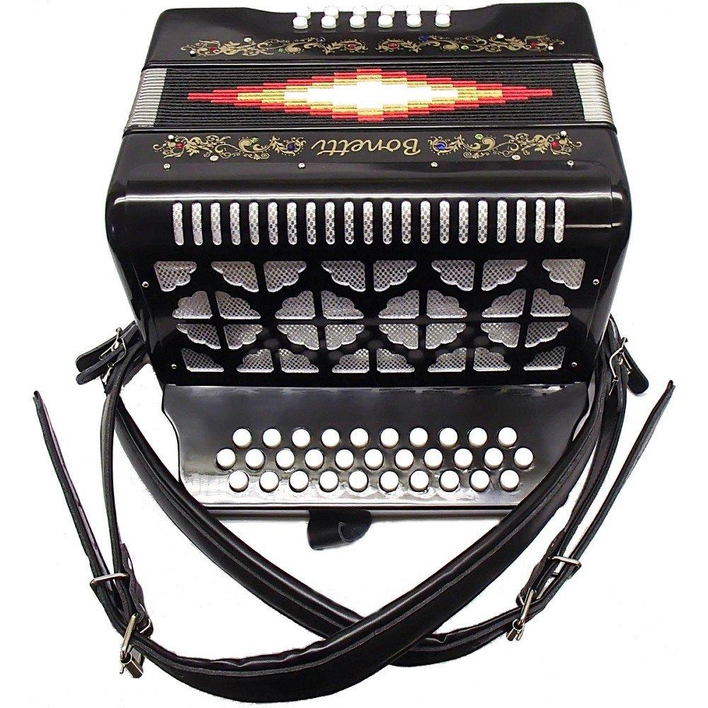 Bonetti Black Diatonic Button Accordion FBE 3012 by Bonetti (Image #2)