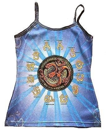 Ticila Damen Spaghetti Trger Top Shirt Blau Om Aum Symbol Mantren