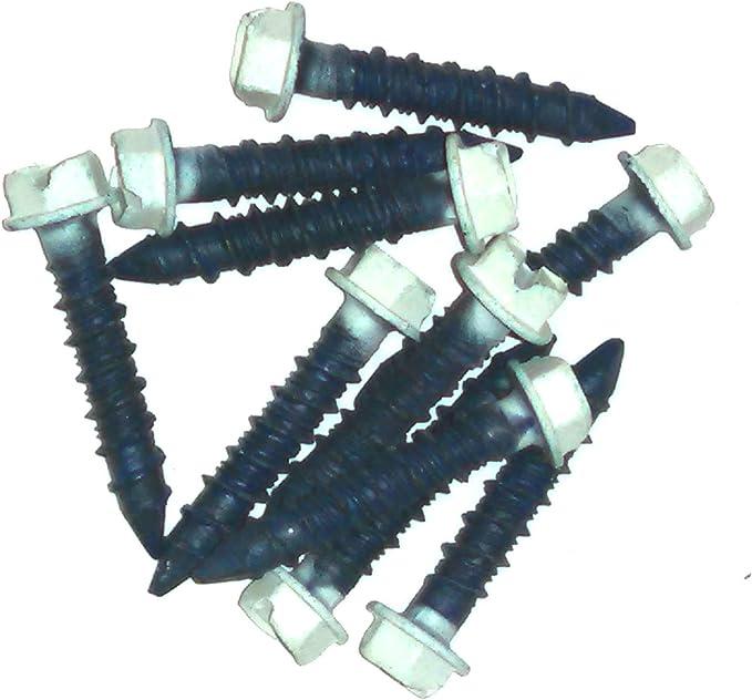 SNUG Fasteners 100 Qty 1//4 x 2-3//4 Hex Head Diamond Tip Concrete Screws to Anchor Masonry Block /& Brick SNG501