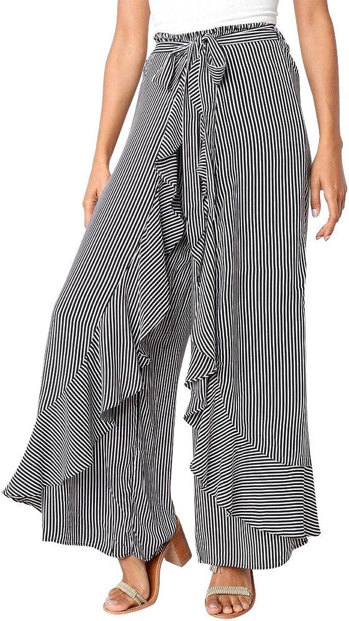 Amazon.com: Pantalones para mujer con estampado en tiempo ...