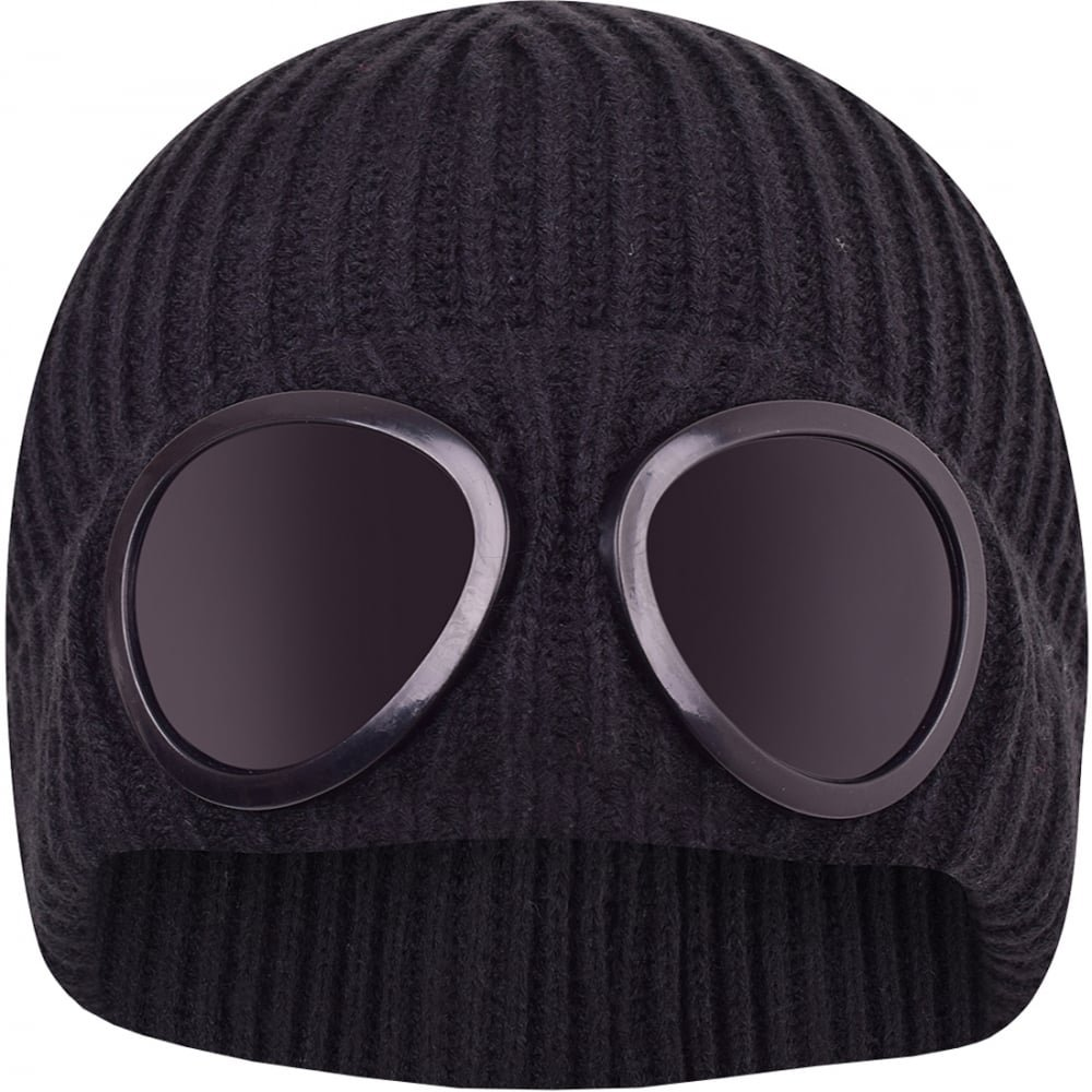 Default Mens Designer Goggle Beanie Knitted Woolly Winter Chunky Beany Hat