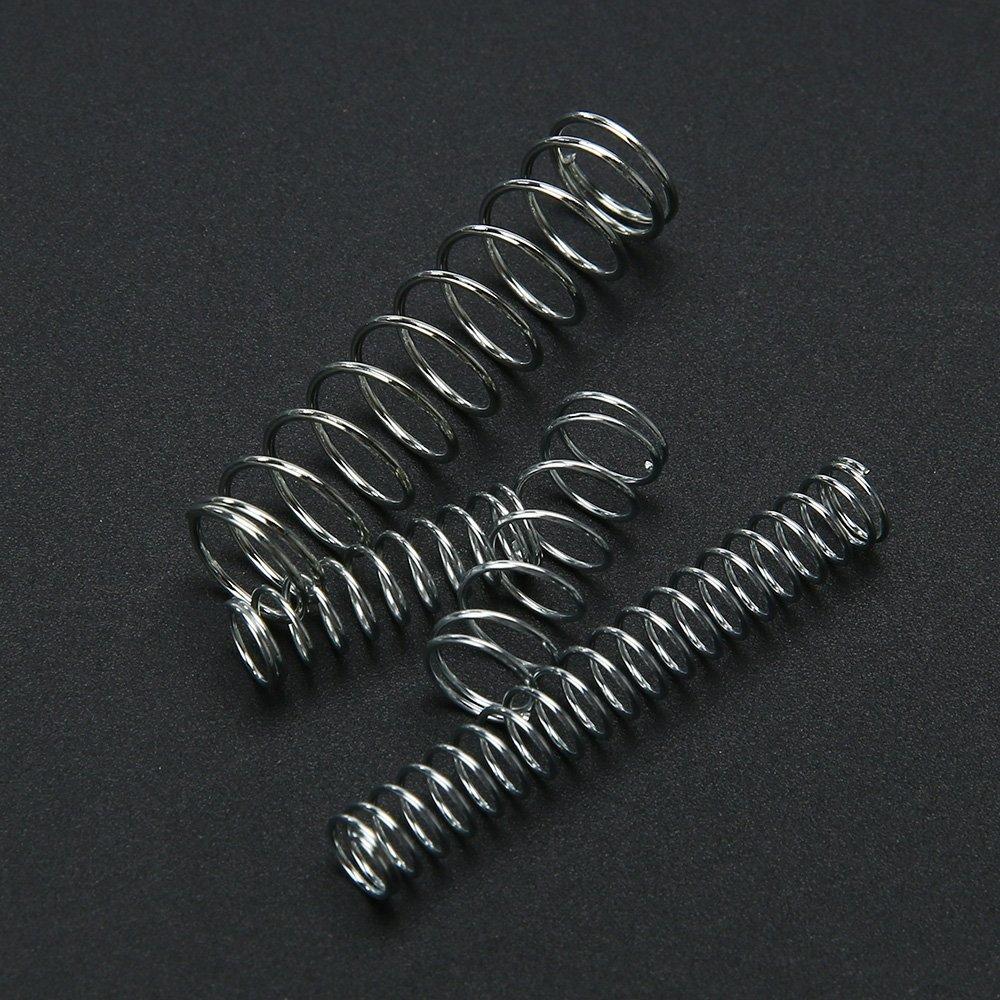 KKmoon 200Pcs Muelles presi/ón de resorte extensibles del hardware el/éctrico fino del acero inoxidable