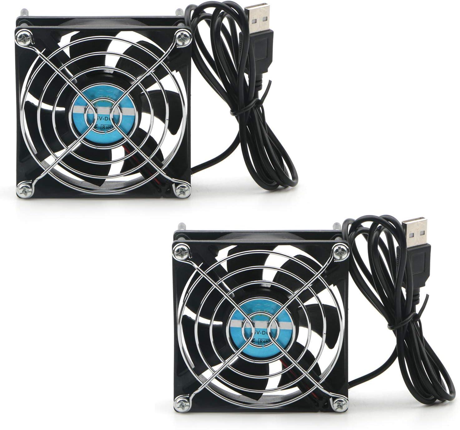 USB Cooling Fan Silent Computer Case PC CPU DC 5V  Cooler Heat dissipation Black