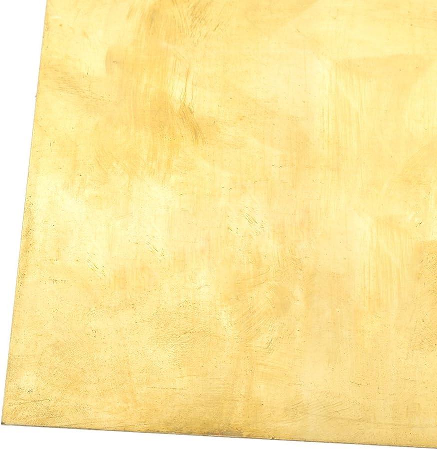 Kesheng 200x200mm Plaque En Cuivre Jaune Bricolage DIY Accessoire 0.5mm